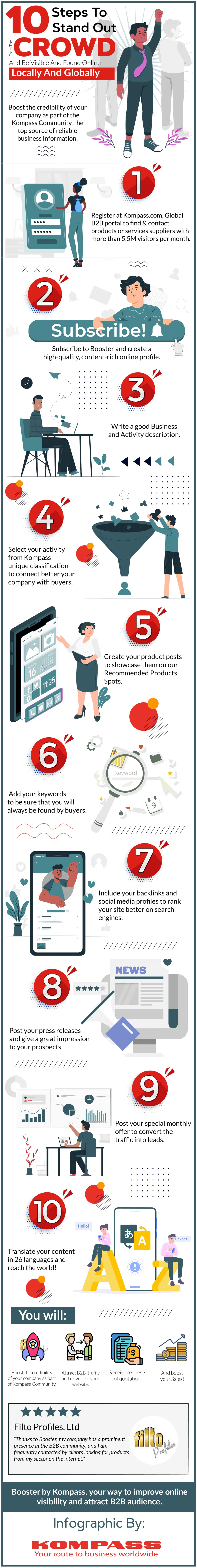 Infographics 10 steps to stand out from the crowd